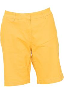 Bermuda Sarja Hering Chino Color Amarela