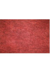 Passadeira Home Agulhado- Vermelha- 150X60Cm- Kakapazi