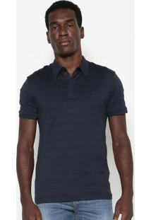 Polo Slim Fit Com Bordado- Azul Marinholacoste