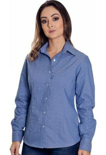 Camisa Pimenta Rosada Justine - Feminino-Azul Claro