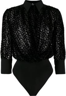 Elisabetta Franchi All-Over Logo Body - Preto