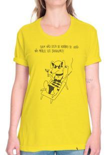 Horário De Verão - Camiseta Basicona Unissex