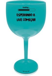 4 Taças Gin Azul Personalizada Para Live