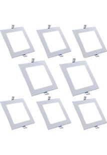 Luminária Painel Led Plafon De Embutir Quadrado 15W Branco Frio
