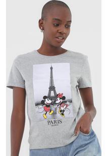 Blusa Cativa Disney Mickey E Minnie Cinza