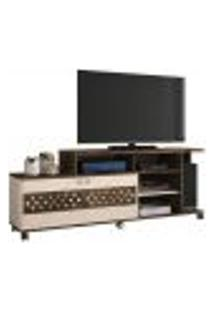 Rack Bancada 2 Portas Para Tv Até 47 Polegadas Inovatta Deck/Off White - Hb Móveis