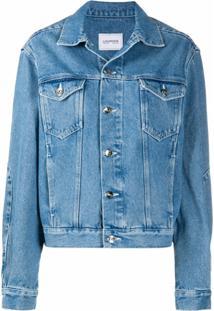 Lourdes Logo Print Denim Jacket - Azul
