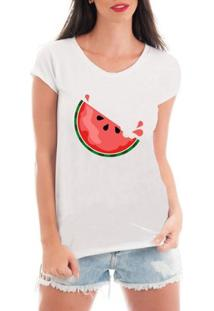 Blusa Criativa Urbana Watermelon - Feminino-Branco