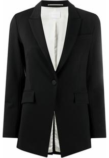 Merci One-Button Fitted Blazer - Preto