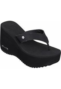 Tamanco Barth Shoes Sorvete Bicolor Tratorado - Feminino-Preto