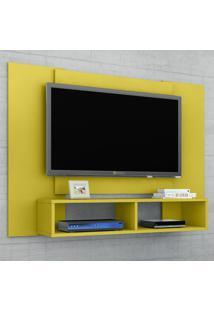 Painel Para Tv Até 48 Polegadas Navi Amarelo - Bechara Móveis
