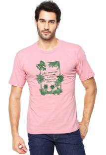 Camiseta Rgx La Capri Med Br Rosa Claro