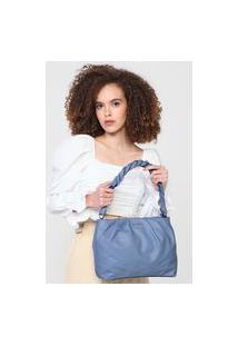 Bolsa Dumond Alça Trançada Azul