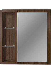 Espelheira De Mdf Safira 76X13,5X91Cm Ameixa Gaam