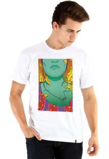 Camiseta Ouroboros Manga Curta Doce Outono - Masculino-Branco