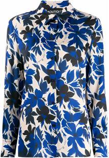 Boutique Moschino Blusa Com Estampa Floral - Azul