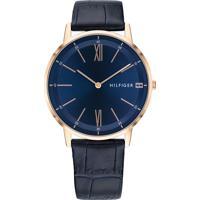 965ffd5fc8e Relógio Tommy Hilfiger Masculino Couro Azul - 1791515