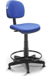 Cadeira Caixa Secretária Jserrano Azul Com Preto