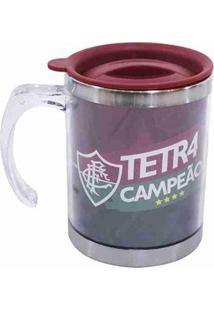 Caneca Térmica Com Tampa 450Ml - Fluminense - Unissex