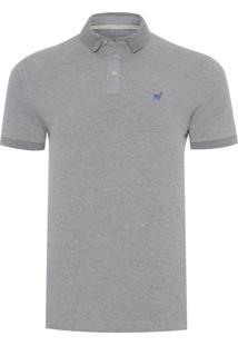 Polo Masculina Lhama Stretch - Cinza