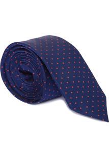 Gravata Clássica Poá - Azul