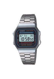 Relógio Analógico Casio Unissex - A168Wa1Wdf Prateado