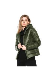Jaqueta Puffer Calvin Klein Jeans Matelassê Verde