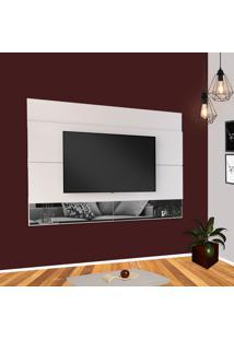 Painel Para Tv 65 Pol Estilare Est204 Branco Com Espelho