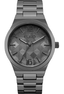 a10c95739ef ... Relógio Feminino Euro Eu2036Ylm 4P 40Mm Pulseira Fume - Feminino-Cinza