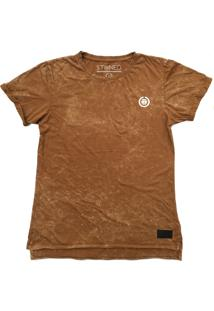 Camiseta Longline Stoned Estonada Basic Areia