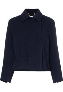 Chloé Drawstring Cropped Jacket - Azul