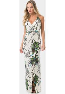 Vestido Frente Única Estampado Flora - Lez A Lez