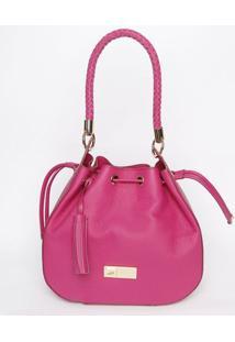 Bolsa De Couro Com Ilhoses- Pink- 30X31X15Cmjorge Bischoff