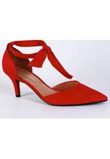 b2f5de4be Scarpin Passarela Vermelho feminino
