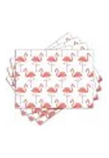 Jogo Americano - Flamingos Com 4 Peças - 1028Jo