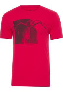 Camiseta Masculina Estampa Route 78 - Vermelho
