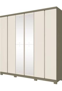 Guarda-Roupa 6 Portas Henn Mango D219-108 Duna/Off White Se