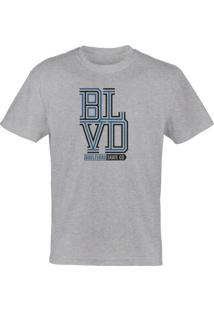 Camiseta Boulevard (Blvd) Weave Stack Skateboards - Cinza