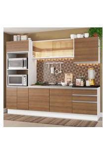 Cozinha Completa Madesa 100% Mdf Acordes Com Armário, Torre E Balcáo (Sem Tampo E Pia) Branco