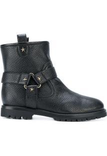 Aquazzura Ankle Boot De Couro - Preto