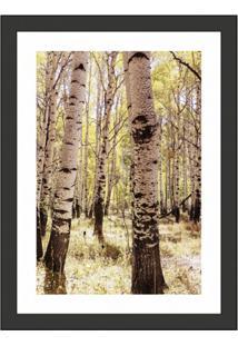 Quadro Decorativo Com Moldura Floresta Ii Preto