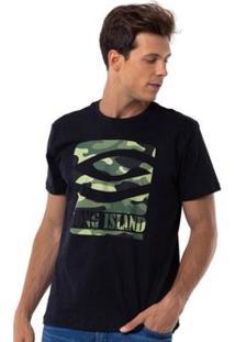 Camiseta Long Island Army - Masculino-Preto