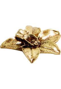 Enfeite Le Lis Blanc Casa Orquídea Gold 02 Dourado (Dourado, Un)