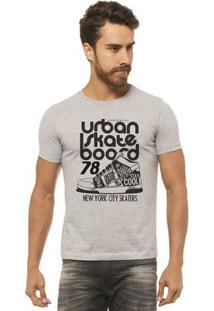 Camiseta Joss - Urban Skate - Masculina - Masculino-Mescla