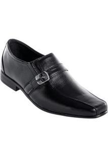 Sapato Preto Com Fivela Lateral