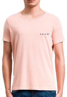 Camiseta Salt 35G Básica Estonada Papaya Masculina - Masculino-Laranja