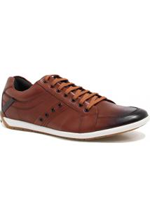 Sapatênis Casual Zariff Shoes Couro Marrom