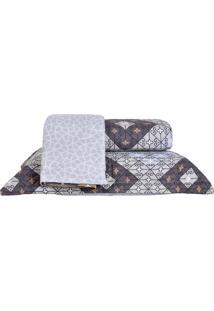 Colcha Ultrassonic Solteiro Com Porta Travesseiro Medina