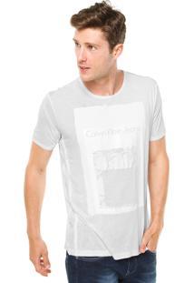 Camiseta Calvin Klein Jeans Emborrachada Branca