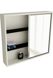 Espelheira De Banheiro 22 Quadrada 60 Cm Branco & Preto